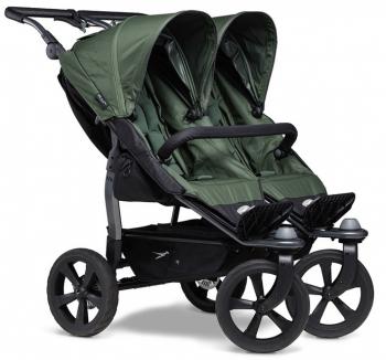 TFK sourozenecký kočárek Duo stroller - air chamber wheel black