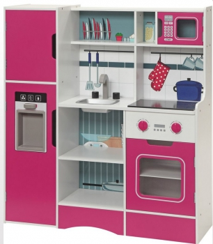 Small Foot dětská kuchyňka dřevěná šéfkuchař růžová