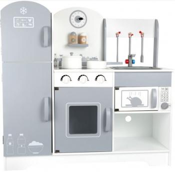 Small Foot dětská dřevěná kuchyňka s lednicí šedá